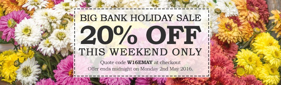 20% Off this weekend!